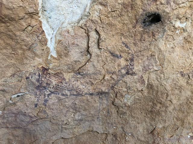 Pinturas rupestres en Solana de las Covachas (Sierra del Segura, Albacete)