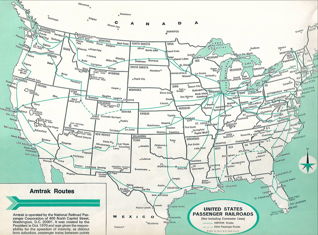 Amtrak Map 1978 John Coyle Scan Also Shows Other Rail Pas Flickr