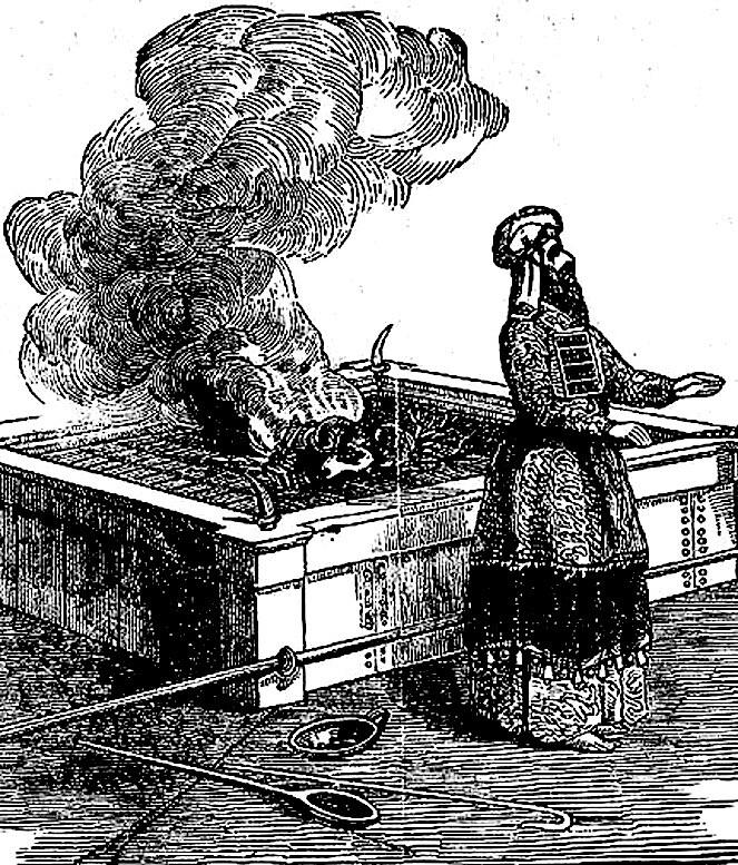 Жертвенник всесожжений скинии Завета.