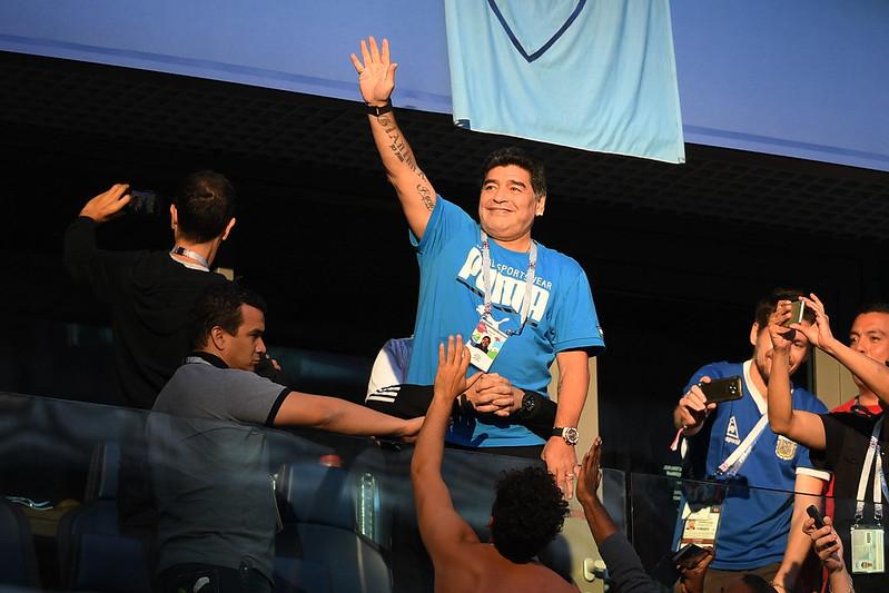 Maradona已提供1萬美元的賞金懸賞他在阿根廷與奈及利亞比賽過後去世的報導來源。(AFP授權)