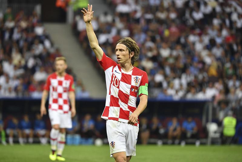 克羅埃西亞隊長Luka Modric認為球員應該要驕傲抬頭。(達志影像)