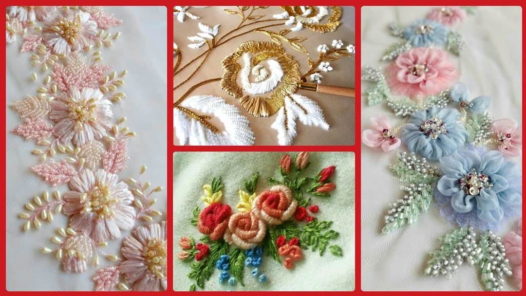 Hand Embroidery Designs Beautiful Easy Embroidery Desi Flickr