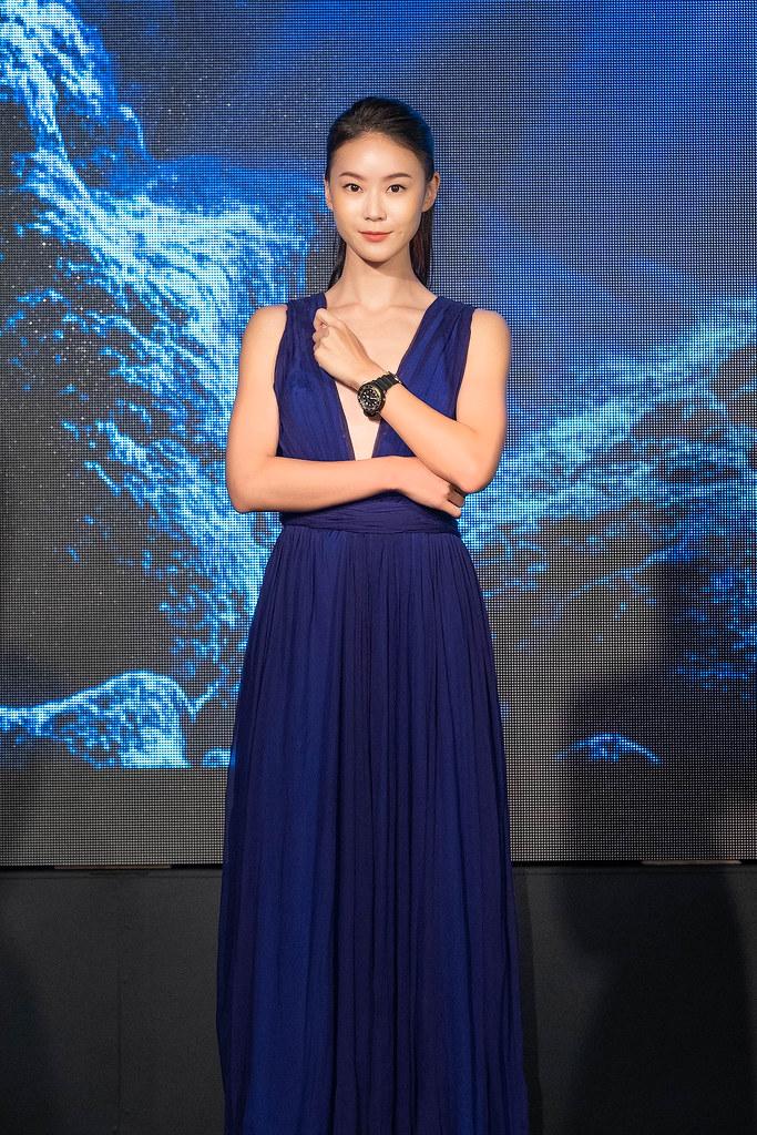 鍾瑶配戴Seiko Prospex小鮪魚SNE498P1出席愛海洋暨潛水錶新品發表記者會。