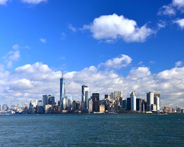 Vistas de Manhattan desde el mirador de Governors Island