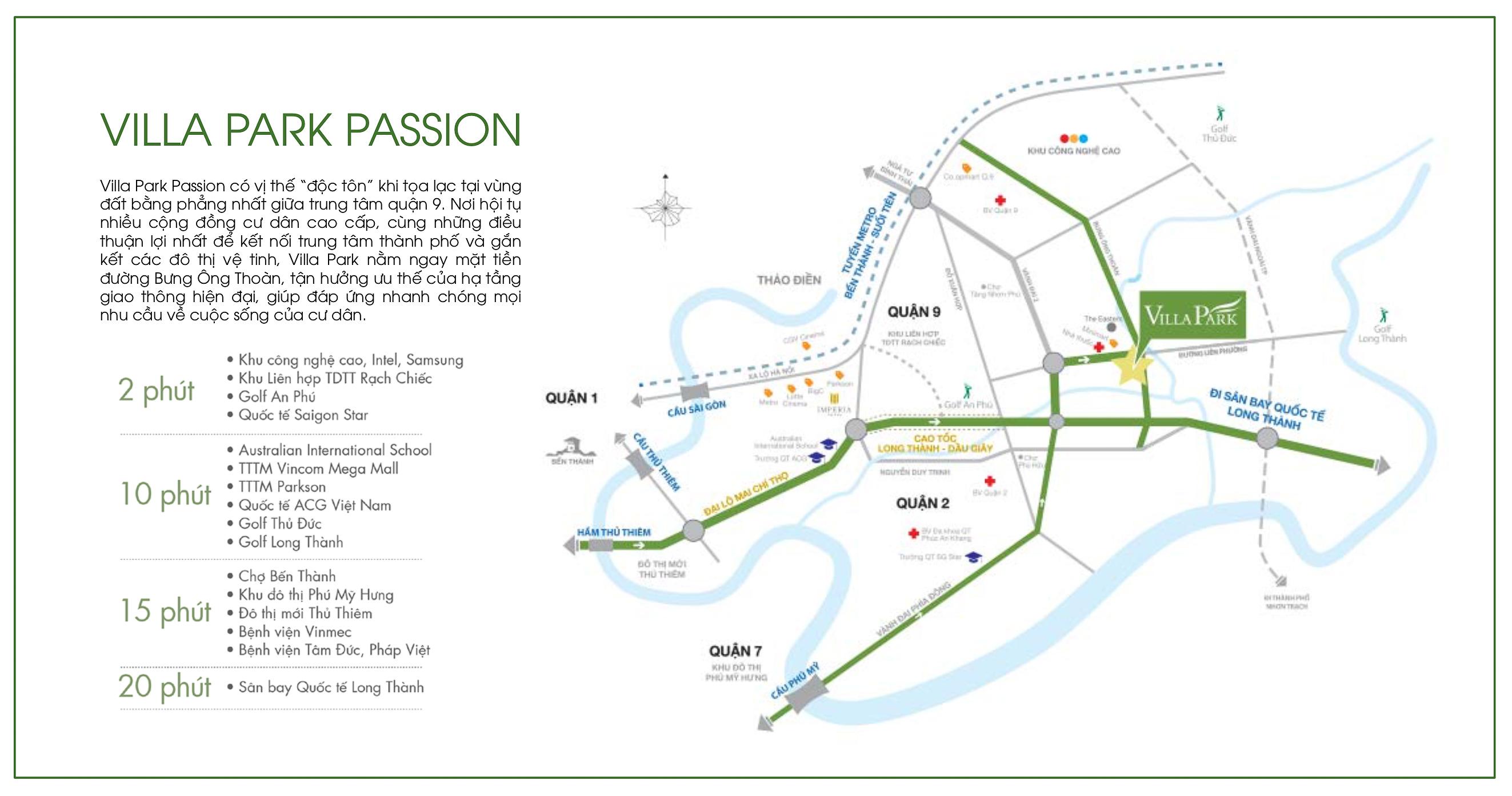 Vị trí dự án Villa Park Passion quận 9