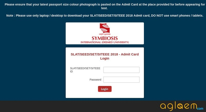 SET 2018 Admit Card (Available)  Download Here for Symbiosis Entrance Test