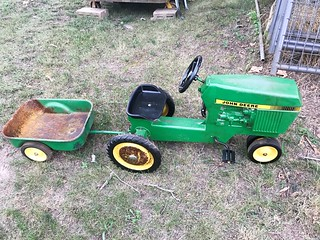 John Deere pedal tractor & trailer | by thornhill3