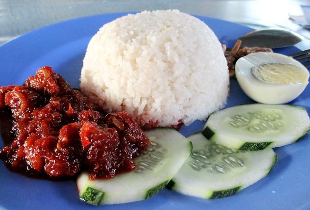 Nasi Lemak Bandong Walk nasi lemak sambal sotong 1