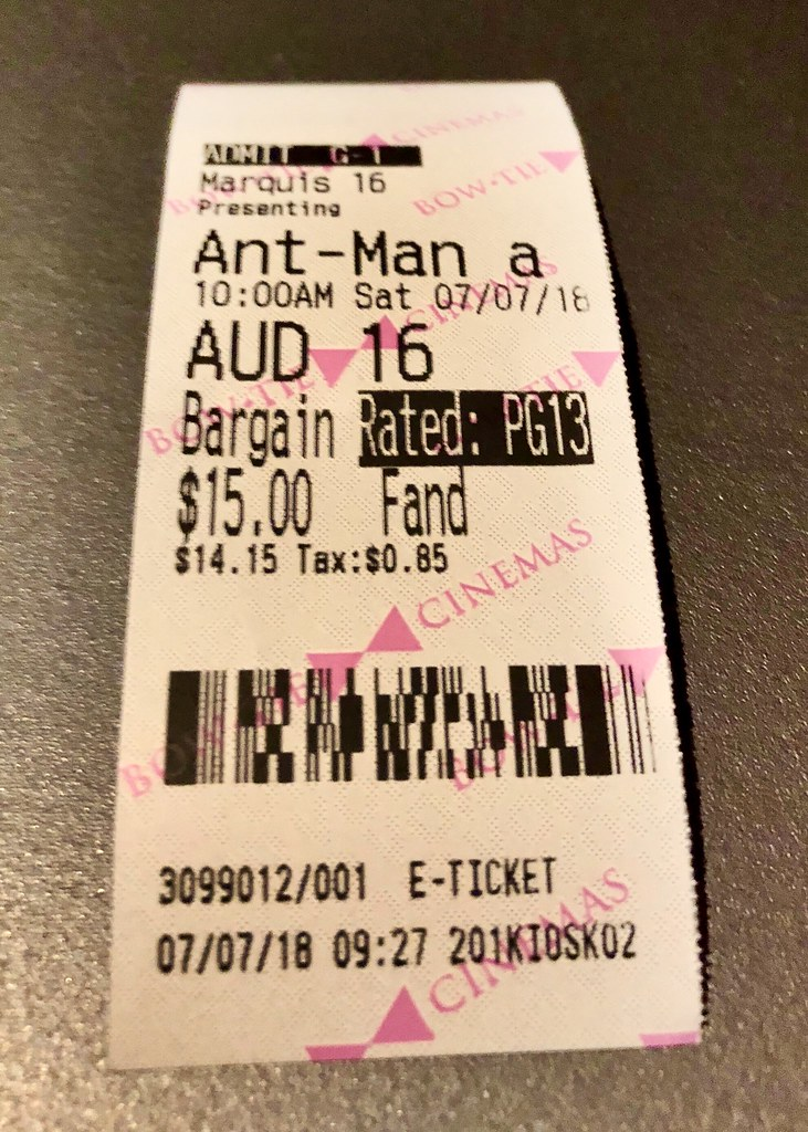 Birthday Present From My Brother Tickets To A 3D Showing Of Ant