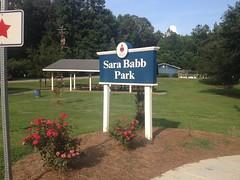 Sara Babb Park Sign