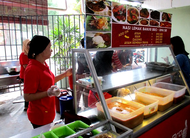 Nasi Lemak Banjir Bro, the stall