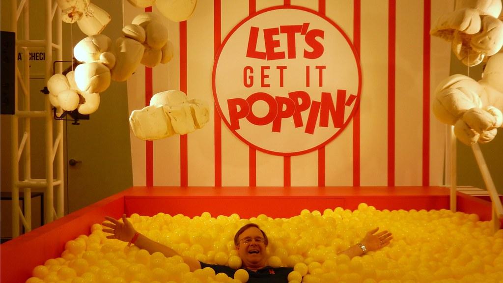 Popcorn Themed Ball Pit At Mlb Food Fest Slgckgc Flickr