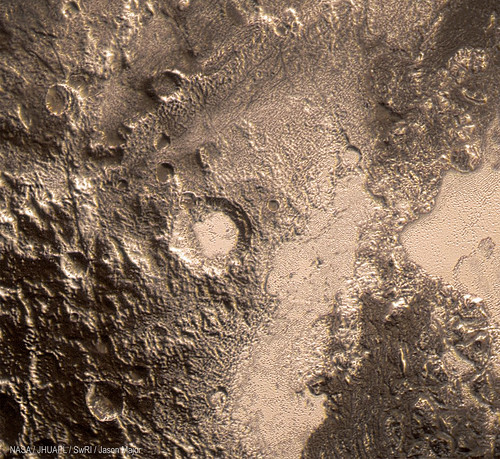 45-km-wide crater on Pluto | by Lights In The Dark