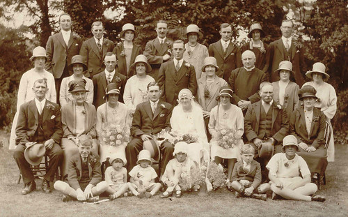George Edward Moden and Lily Dewey's Wedding, 1929 | by familytreeuk