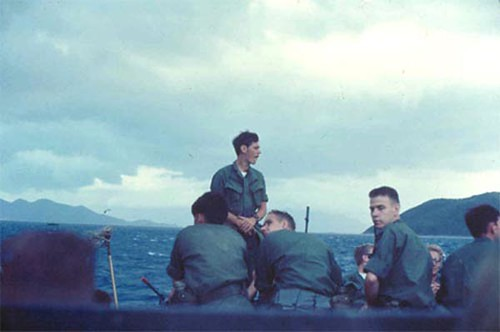 1969 American Soldiers On Transport Ship To Hon Tre Island