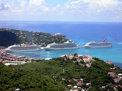 Cruise Ships Docked at St. Thomas | by raspberrycremebrulee