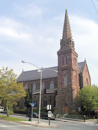 st marys church on a beautiful summer day in front of
