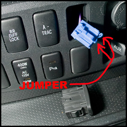Factory Subwoofer Switch Temporary Jumper To Make The