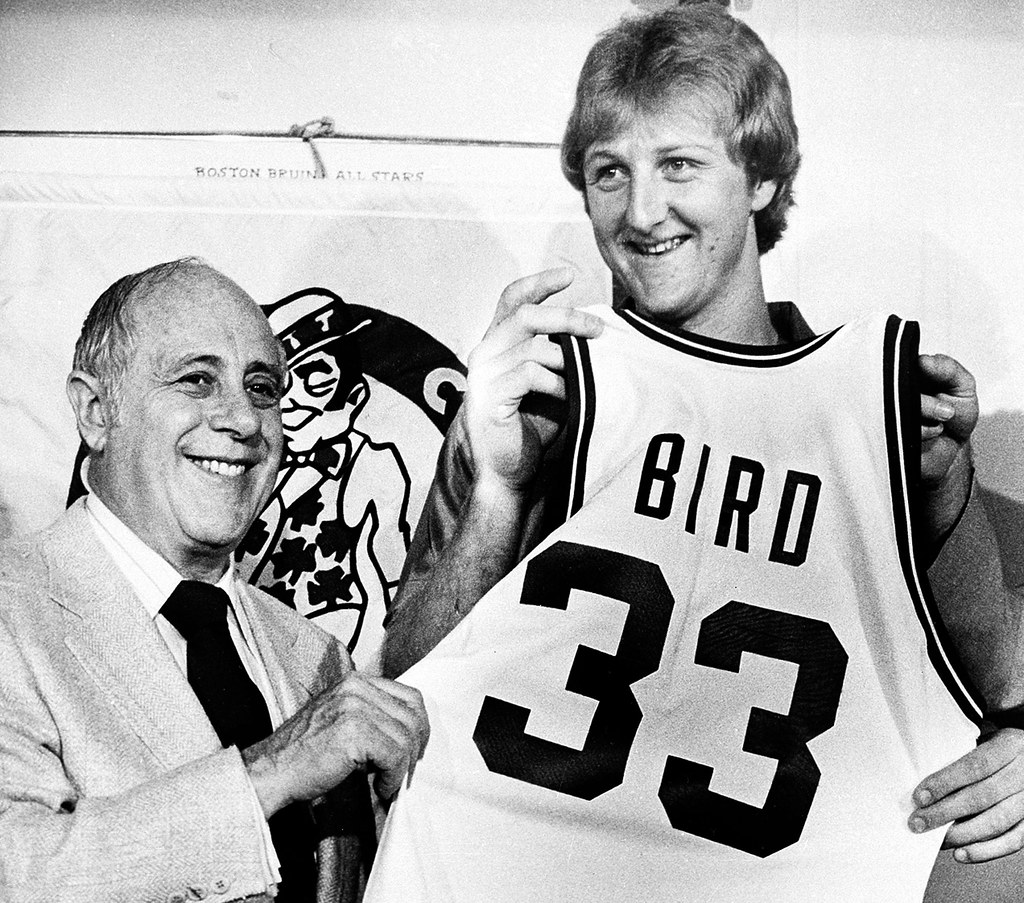 Red Auerbach Y Larry Bird Former Indiana State