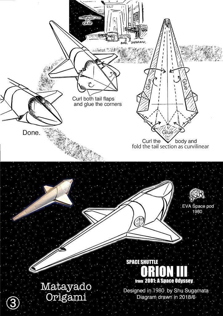 Space Shuttle Orion Origami Diagram 3 My Own Design 1980 D Flickr