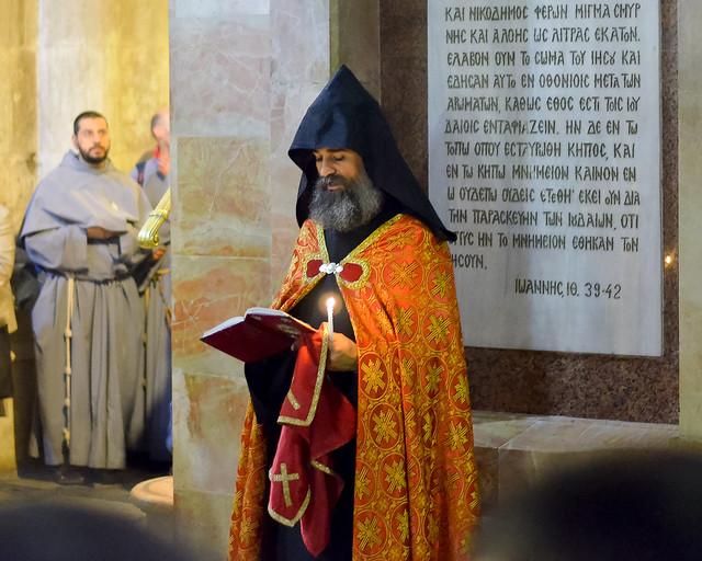 Interior del Santo Sepulcro de Jerusalén
