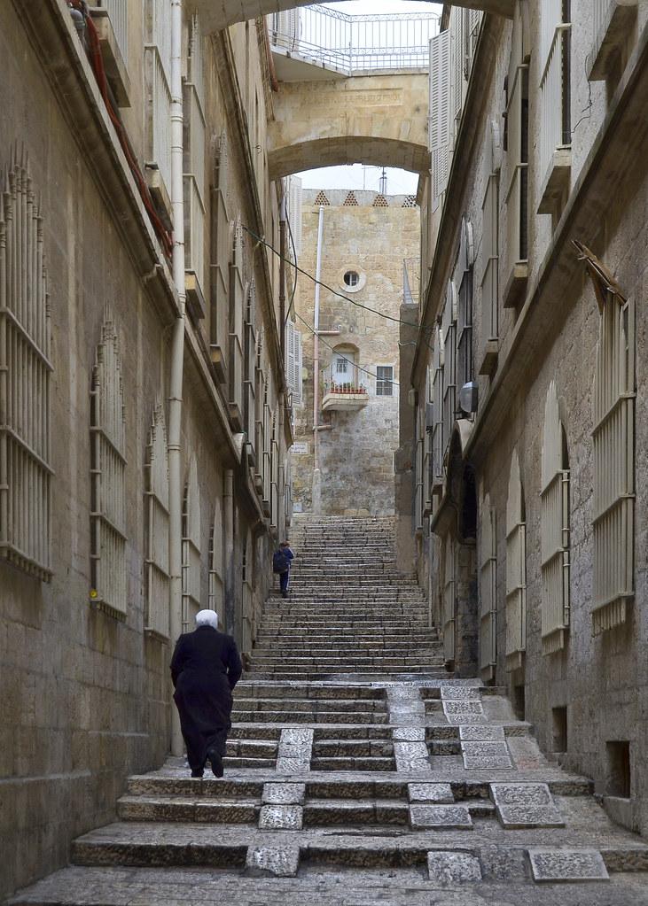 Calles con escaleras de Jerusalén