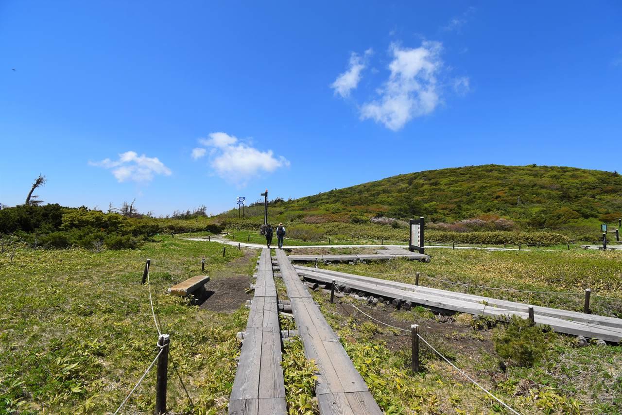 蔵王ロープウェイ山頂の木道