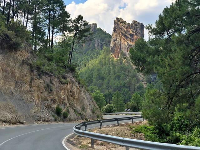 Carretera a Riópar en la Sierra del Segura y Alcaraz (Albacete)