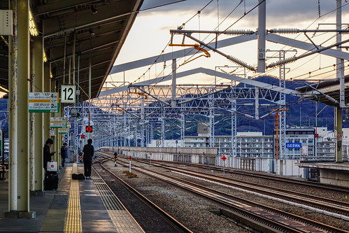 Railway platform in Himeji, Japan | by phuong.sg@gmail.com