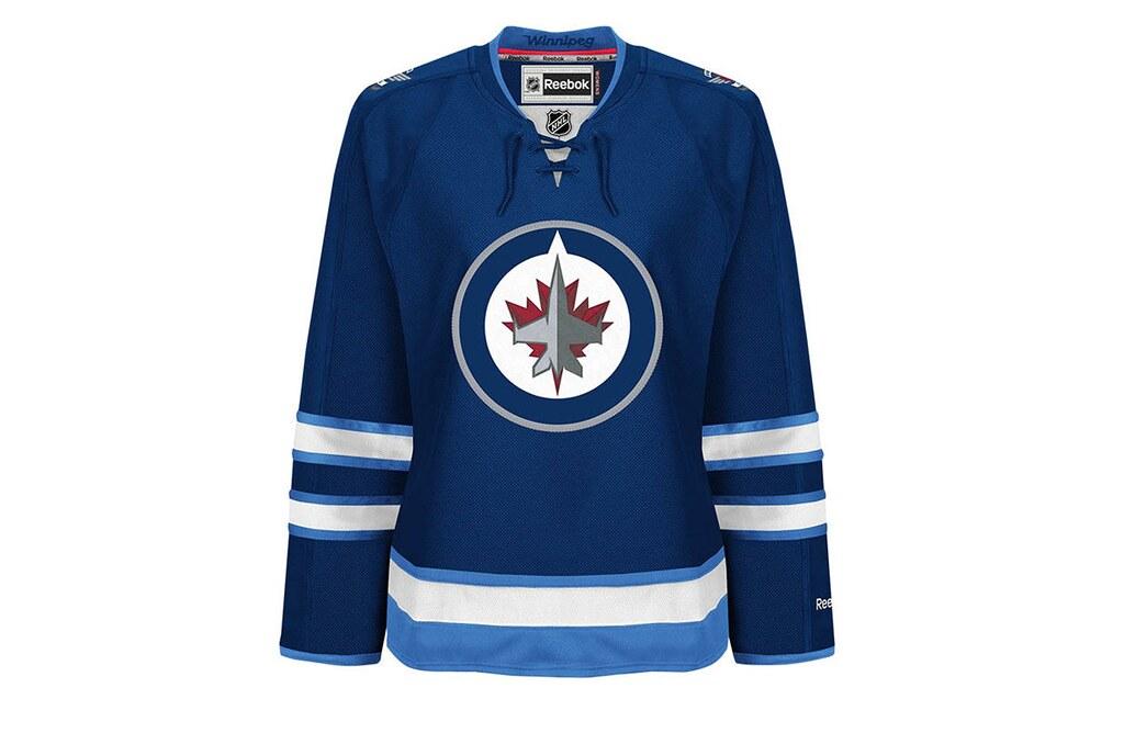 promo code 7c131 7c121 Winnipeg Jets Reebok NHL Womens Premier Jersey for Only ...