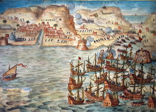 Ataque de la flota holandesa de Van der Does a la isla de Gran Canaria