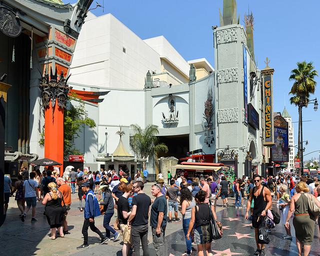 Teatro chino del paseo de la fama de Los Angeles en Estados Unidos