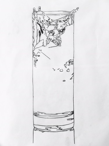 WS1808: Glass of Water - Line Art | by COLORED PENCIL magazine