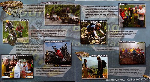 Brochure Chiang Mai Mountain Biking & Kayaks Mountain Bike Tour 2