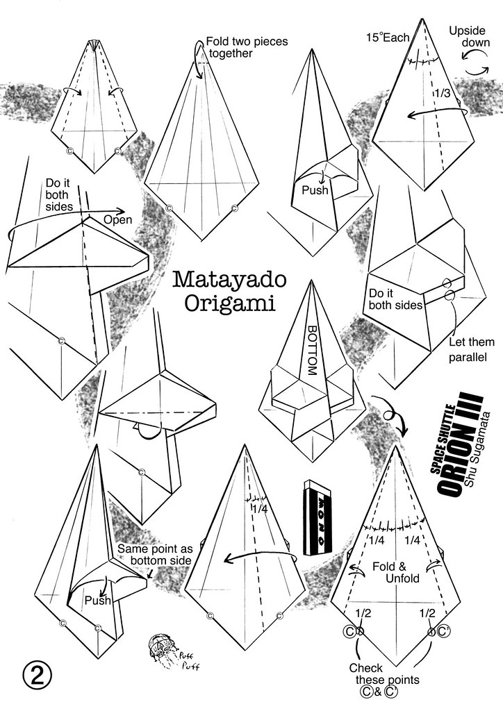 Space Shuttle Orion Origami Diagram 2 My Own Design 1980 D Flickr