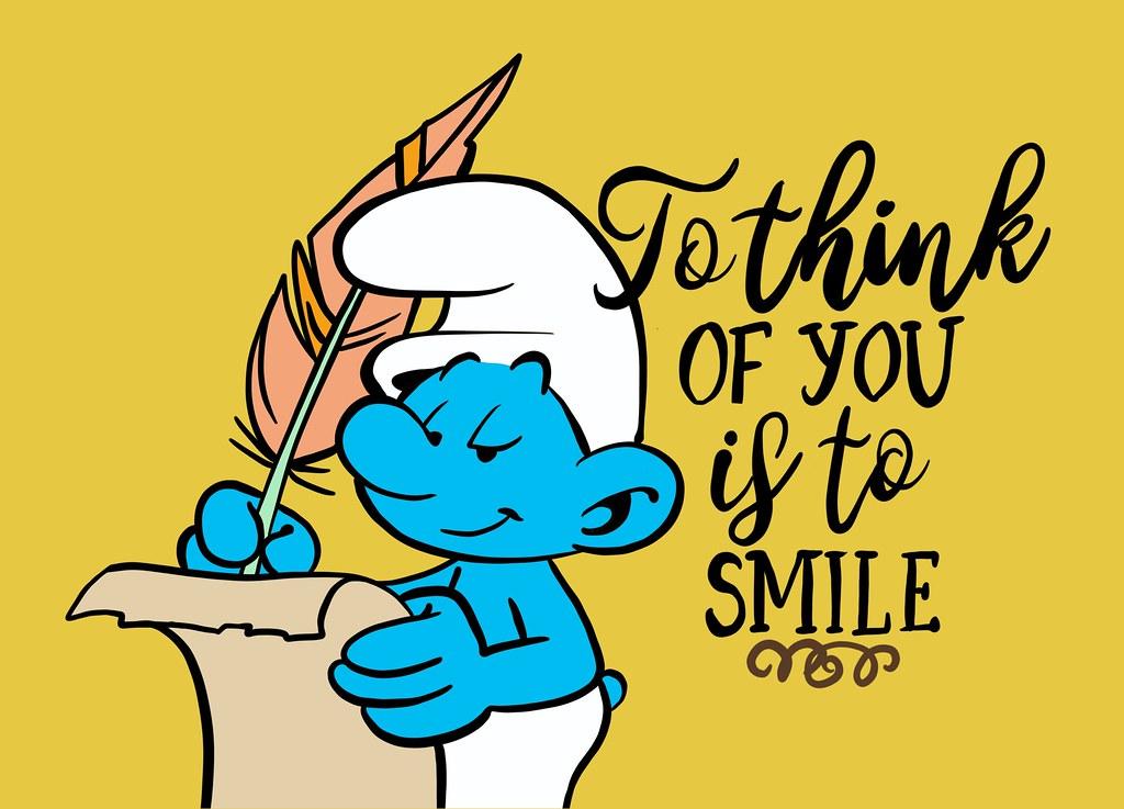 Smurf Writing Letter Cartoon Postcard Artist Les Flickr