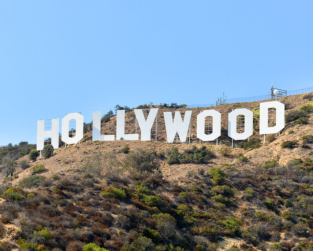 Letras blancas de Hollywood