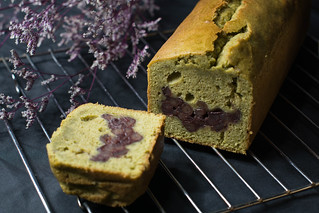 Matcha red beans pound cake 抹茶紅豆磅蛋糕 | by junsnowlin