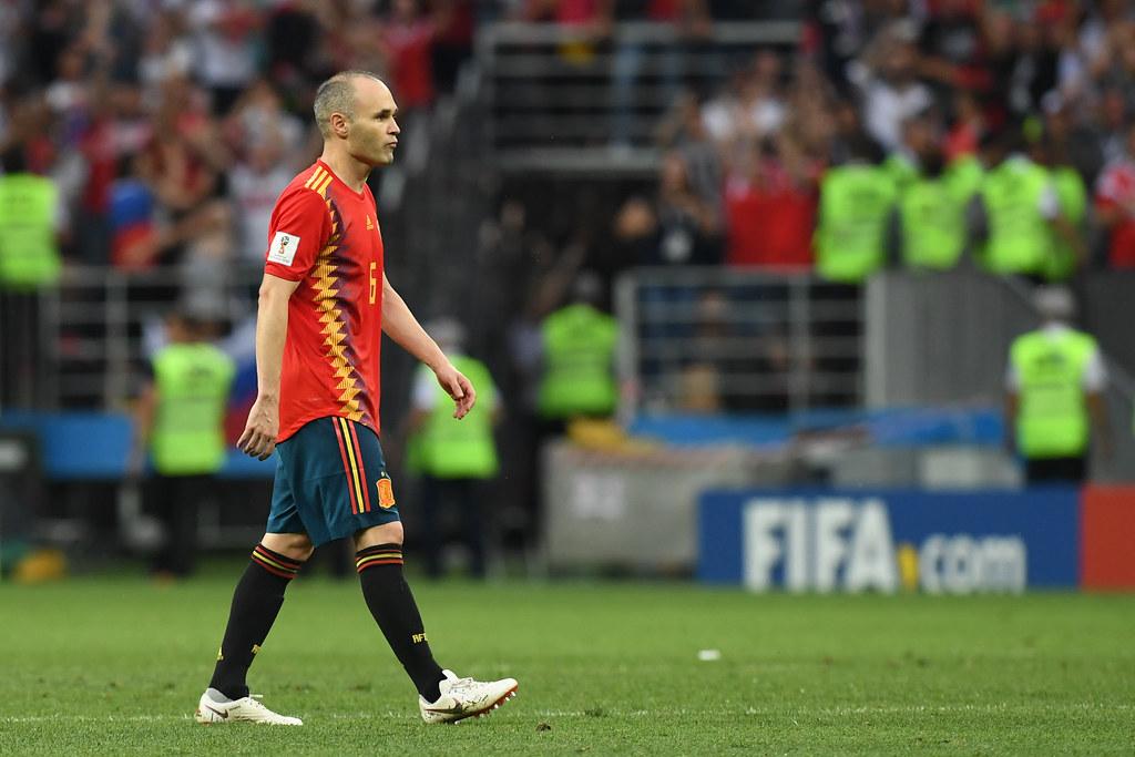 Andres Iniesta的西班牙國際賽生涯以較為苦悶的方式劃下句點。(AFP授權)