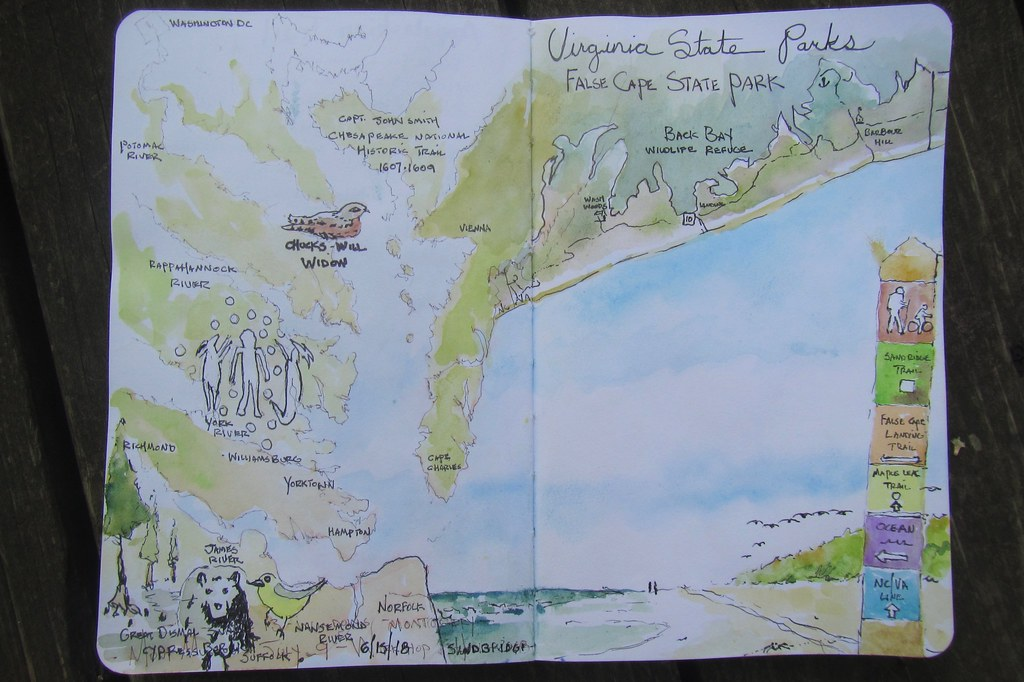 False Cape State Park sketch book drawing journal | SA ...