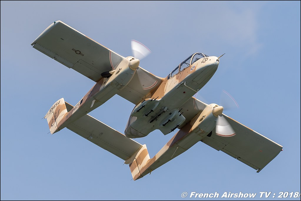 Ov-10 bronco Montelimar meacmtl - OV-10 B Bronco - 99+24 - F-AZKM , AéroLac Annecy 2018 , Canon EOS , Sigma France , contemporary lens , Meeting Aerien 2018