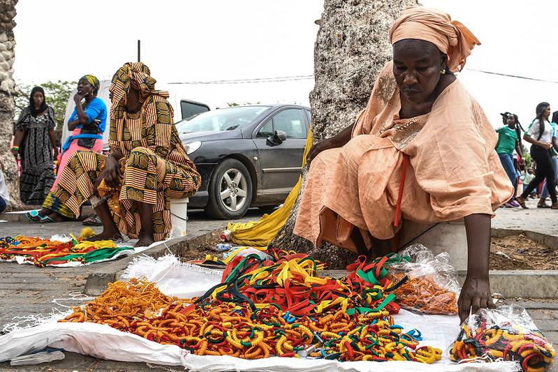 塞內加爾攤販。(AFP授權)