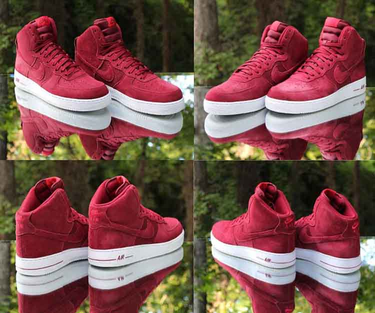 competitive price ec758 d82fa ... Nike Air Force 1 High 07 University Red White Suede 315121 Flickr
