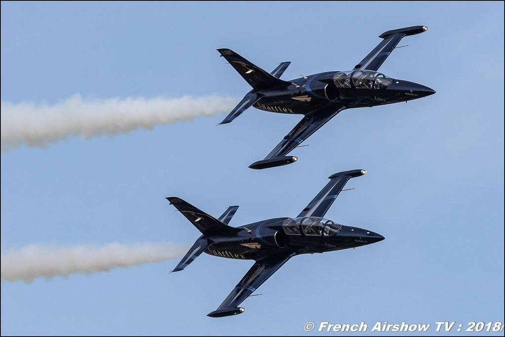 Patrouille Sparflex L39 Albatross LX-MIK & LX-STN , AéroLac Annecy 2018 , Canon EOS , Sigma France , contemporary lens , Meeting Aerien 2018