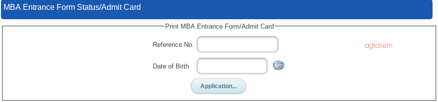 UOU MBA 2018 Admit Card