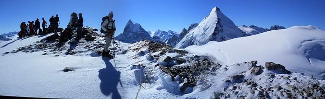 The Matterhorn & Dent d'Herens from Tete Blanch