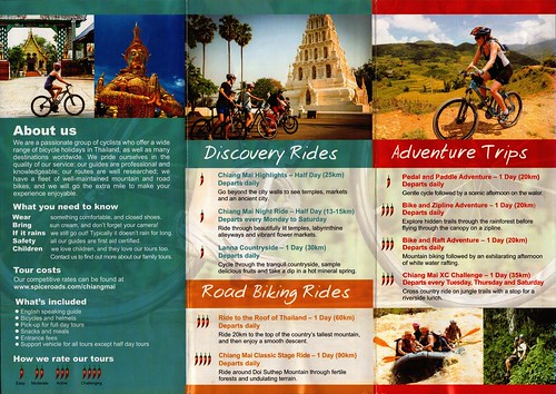 Brochure SpiceRoads Cycle Tours Chiang Mai Thailand 2