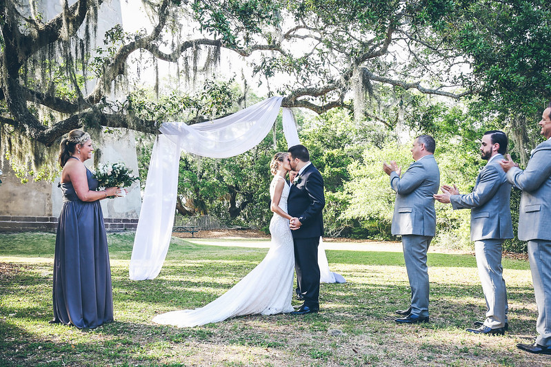 First kiss l Bryce Lafoon Photography l Bald Head Island, NC