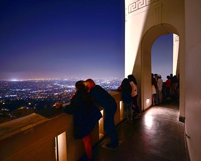 Mirador del observatorio Griffith de Los Angeles uno de los lugares más bonitos que ver en Los Angeles