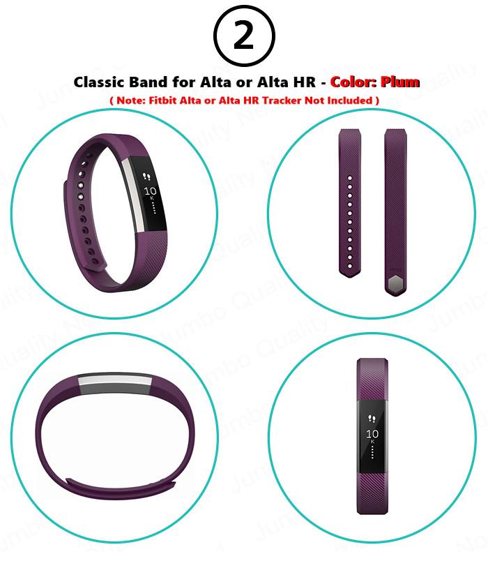 Fitbit Inc FB163ABPML ALTA HR Large Plum Classic Band for sale online